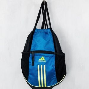 Adidas Drawstring Bag front Zipper Pocket